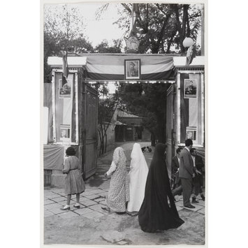 Photograph - Triumphal arch improvised for the Shah's birthday