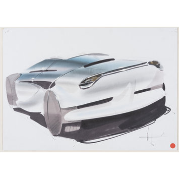 Drawing - Car design