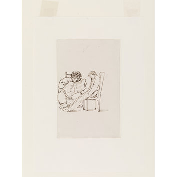 Drawing - William Morris reading poetry to Burne-Jones