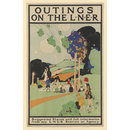 Outings On The LNER (Poster)