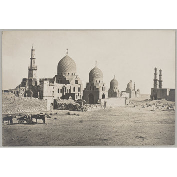 Photograph - The funerary kanqahs of Mamluk sultan al-Ashraf Barsbay (left) and Sultan Faraj ibn Barquq (right), Cairo