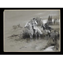 His Imperial Majesty Nicholas II in the Hunting Field (Drawing)