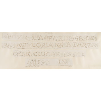 Print - Rubbing of the inscription on a bell in St. Lawrence's Church