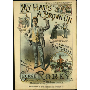 Sheet music - My Hat's A Brown 'Un'