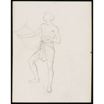 Drawing - Man with a classical lyre