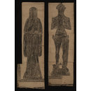 Sir Thomas de St Quintin and his wife Agnes (Brass rubbing)