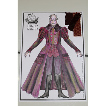 Costume design - Costume design for the Demon Eggula in<i> Humpty Dumpty</i