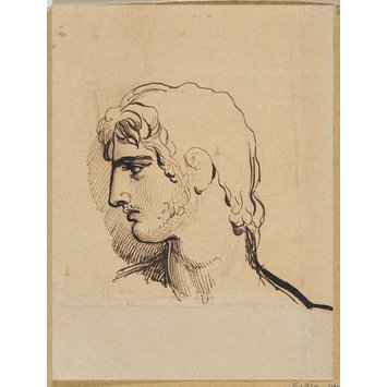 Drawing - Sketch of the head of a young man, probably the actor Charles Kemble (1775-1854)