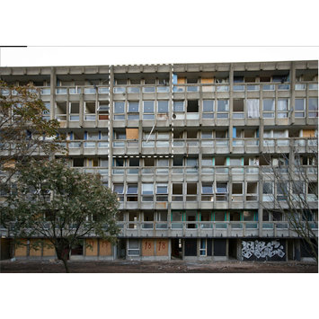 Building - Robin Hood Gardens, Poplar, London, by Alison and Peter Smithson