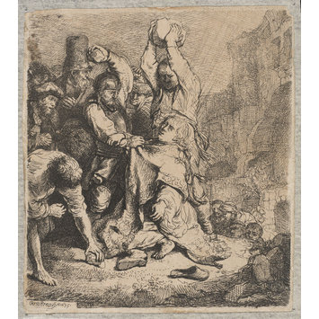 print - The Stoning of St. Stephen
