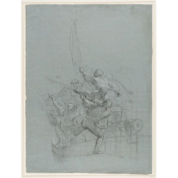 Drawing - Studies of military scenes