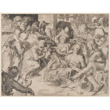 Drawing - Adoration of the Shepherds (Luke 2:8-14)