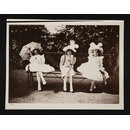 Three Girls on Park Bench (photograph)