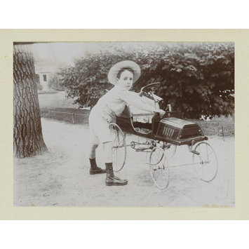 Photograph - On the Champs de Mars, Paul at age 5 1/2, June 1912
