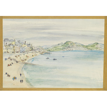 Watercolour - Lyme Regis Bay