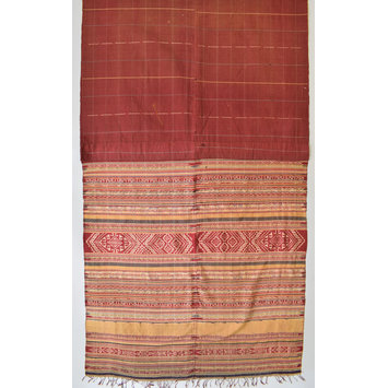 Shan weft-ikat cloth